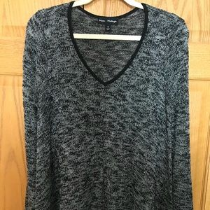 Tops - Marled Knit V Neck Top